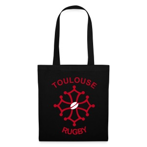 Sac femme noir Toulouse Rugby - Tote Bag