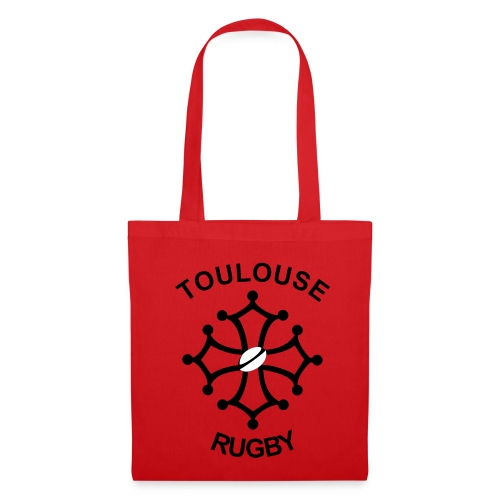Sac femme rouge Toulouse Rugby - Tote Bag