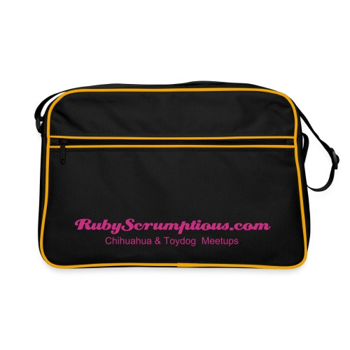 Chi messenger bag RS black&pink - Retro Bag