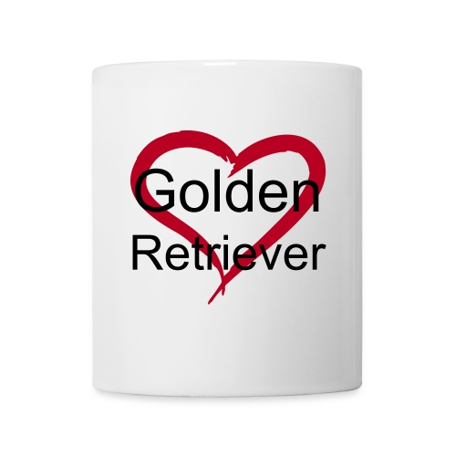 Tasse Love Golden. - Mug blanc