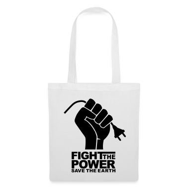 White Fight the power Bag
