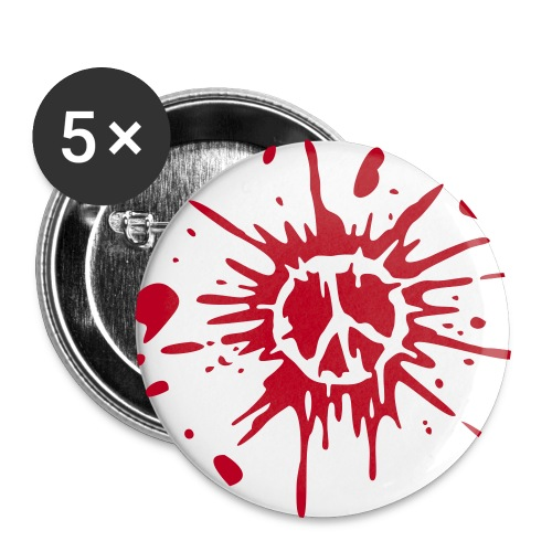 Peace Rojo - Paquete de 5 chapas grandes (56 mm)