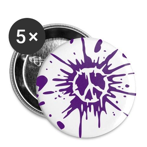 Peace Violeta - Paquete de 5 chapas grandes (56 mm)