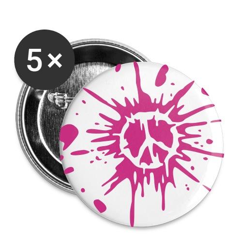 Peace Rosa - Paquete de 5 chapas grandes (56 mm)