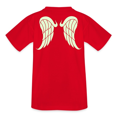 T-shirt for children with angelwings, that glowes in the dark - Teenage T-Shirt