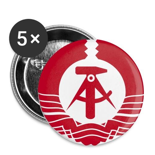 Emblema RDA - Paquete de 5 chapas grandes (56 mm)