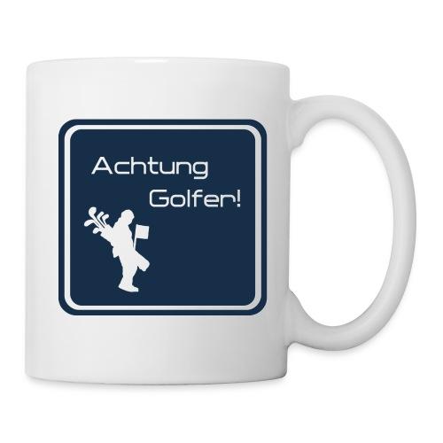 Achtung Golfer - Tasse