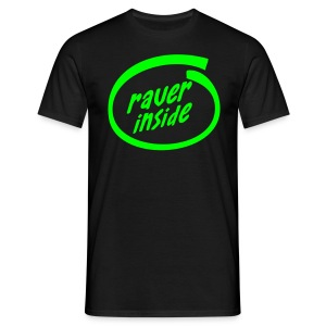 Raver Inside - Neongreen - T-shirt herr