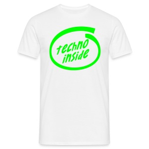 Techno Inside - Neongreen - T-shirt herr