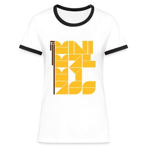 MiniMalMyAss (w) - Frauen Kontrast-T-Shirt