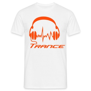 Trance Headphones - Neonorange - T-shirt herr