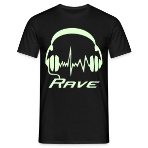 Rave Headphones - Glow in the dark - T-shirt herr
