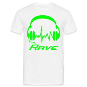 Rave Headphones - Neongreen - T-shirt herr