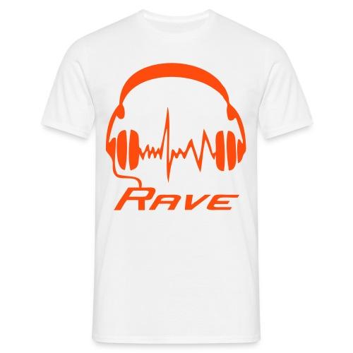 Rave Headphones - Neonorange - Men's T-Shirt