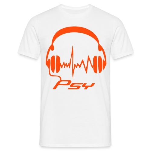 Psy Headphones - Neonorange - Men's T-Shirt