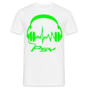 Psy Headphones - Neongreen - T-shirt herr