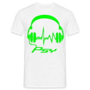 Psy Headphones - Neongreen - T-shirt herr