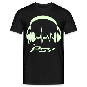 Psy Headphones - Glow in the dark - T-shirt herr