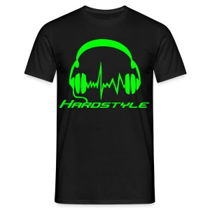 Hardstyle Headphones - Neongreen - T-shirt herr