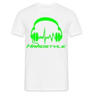 Hardstyle Headphones - Neongreen - T-shirt herr
