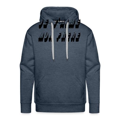 je t aime mon frere - Sweat-shirt à capuche Premium pour hommes