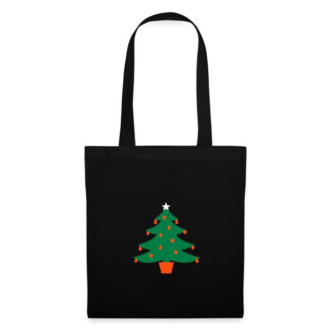 Christmas Tree Glowing Star Tote Bag