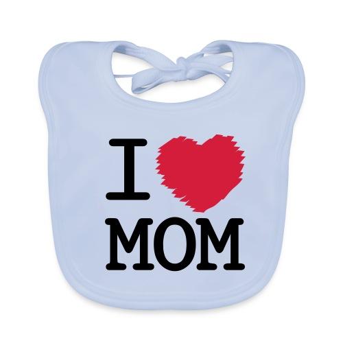 Babylatz, I Love Mom - Baby Bio-Lätzchen