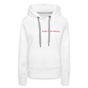 EMR Ladies Hooded Sweatshirt - White - Women's Premium Hoodie