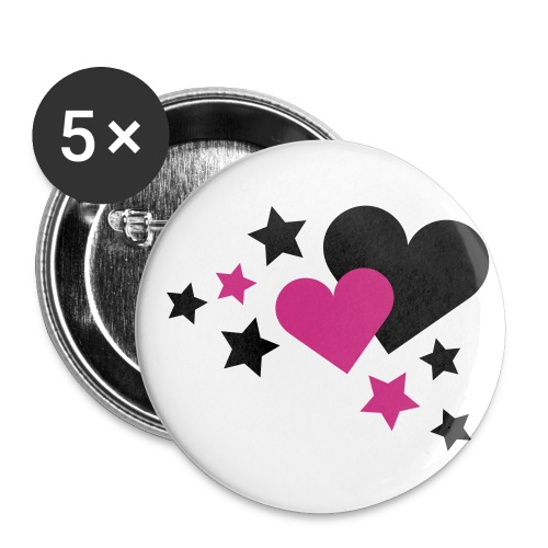 Chapas Emo - Paquete de 5 chapas pequeñas (25 mm)