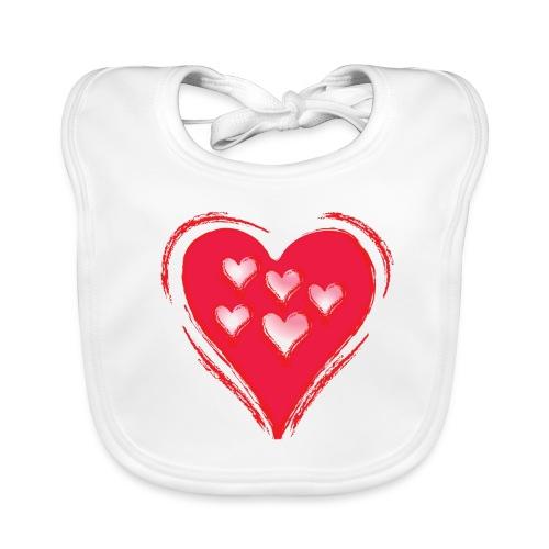 Herz Lätzchen - Baby Bio-Lätzchen