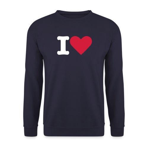 I Love - Pullover - Männer Pullover