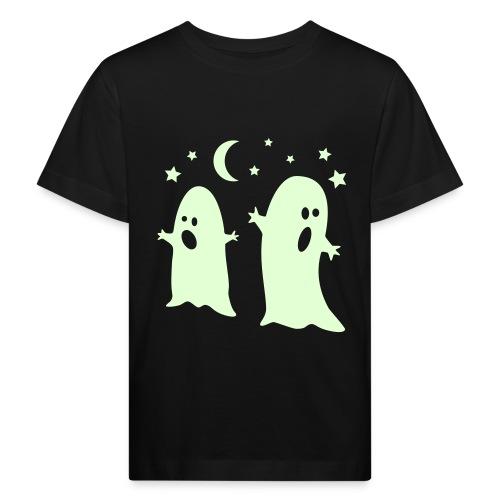Kummitus kaksikko pimeässä hohtava - Lasten luonnonmukainen t-paita