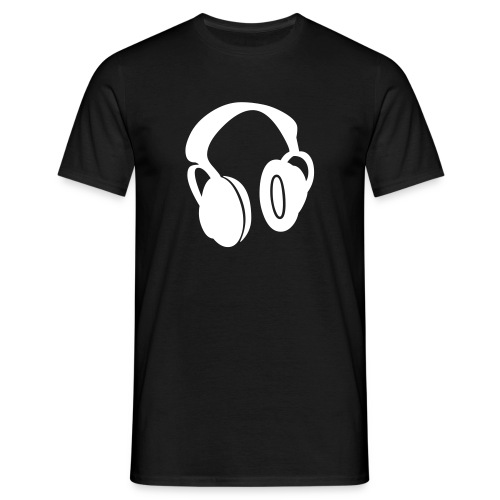 Headphones Shirt 2 (Black) - Männer T-Shirt