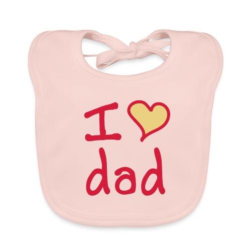 I love dad slabbetje pink - Bio-slabbetje voor baby's
