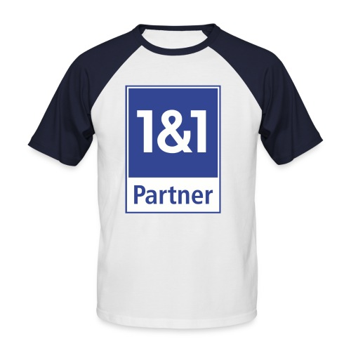 1und1 Partner Shirt Doppelseitig - Männer Baseball-T-Shirt