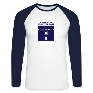 In Memory Of Diskettenlocher - Männer Baseballshirt langarm