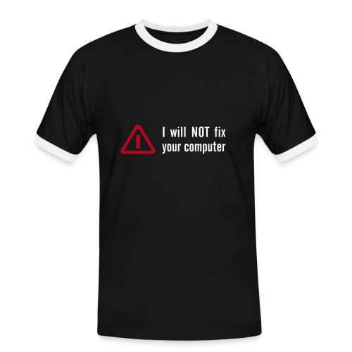 not fix - Männer Kontrast-T-Shirt