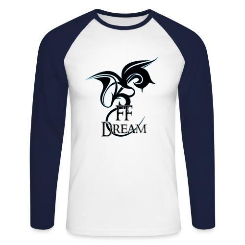 Sweat-bicolore - logo bleu - T-shirt baseball manches longues Homme