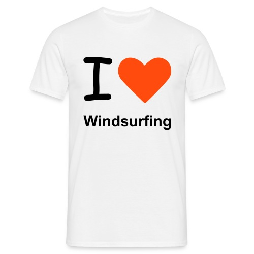 I love Windsurfing - Männer T-Shirt