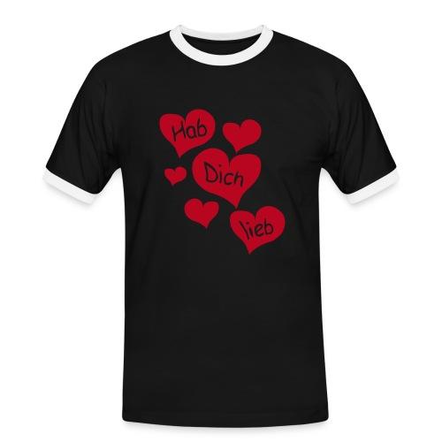Valentin - Hab Dich Lieb - Männer Kontrast-T-Shirt