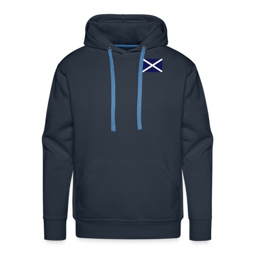scottish flag plain navy - Men's Premium Hoodie