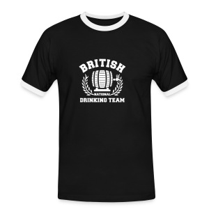 british drinking team black - Men's Ringer Shirt