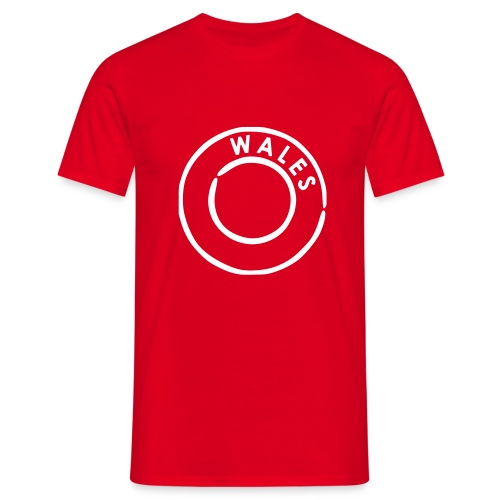 wales circle plain red - Men's T-Shirt