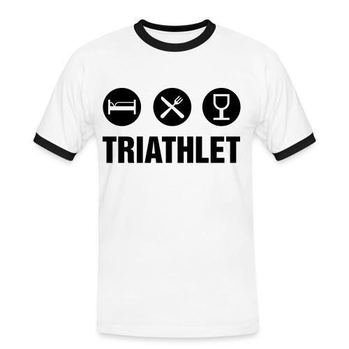 Der Triathlet - Männer Kontrast-T-Shirt