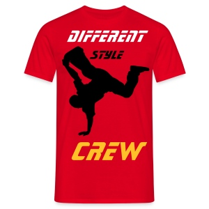 tee shirt break different style rouge - T-shirt Homme