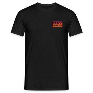 gay pride plain black - Men's T-Shirt