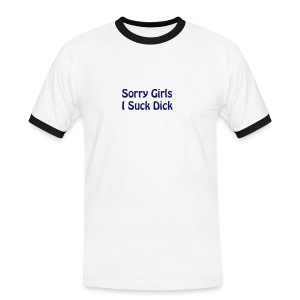 sorry girls navy - Men's Ringer Shirt