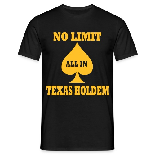 No Limit Poker - Men's T-Shirt