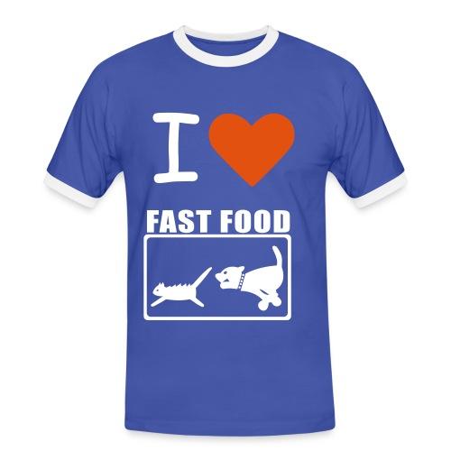 Fast-Food Liebhaber! - Männer Kontrast-T-Shirt
