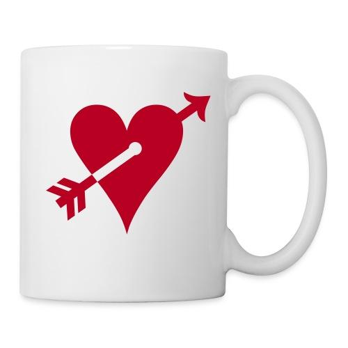 Tasse coeur flèche - Mug blanc